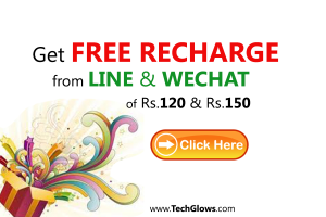 free recharge from line and wechat tech glows