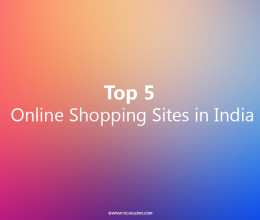 Top Five Online Shopping Sites in India