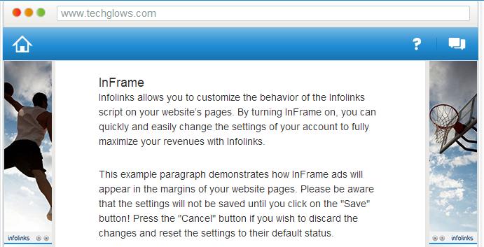 inframe infolinks ads