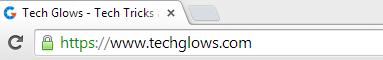 Tech Glows URL Bar