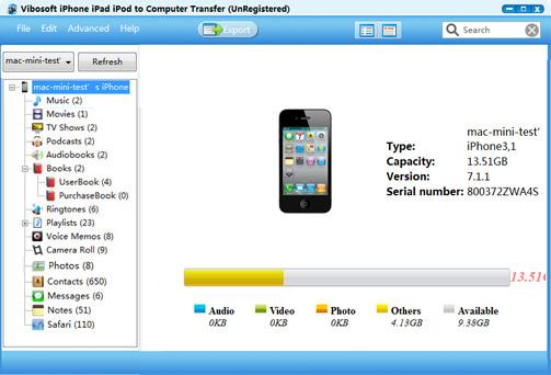 Vibosoft iPad/iPhone/iPod to Computer Transfer