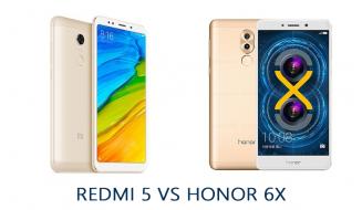 redmi5 vs honor 6x